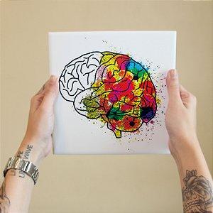 Azulejo Decorativo Cérebro Aquarela