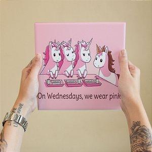 Azulejo Decorativo We Wear Pink Unicornios