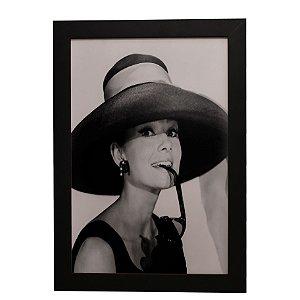 Quadro Decorativo Audrey Hepburn (P&B)