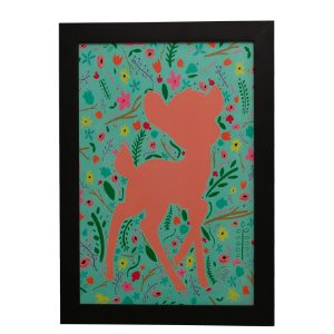 Quadro Decorativo Deer Flores