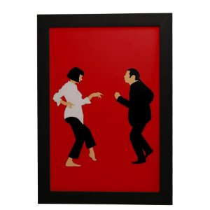 Quadro Decorativo Pulp Fiction Dançando
