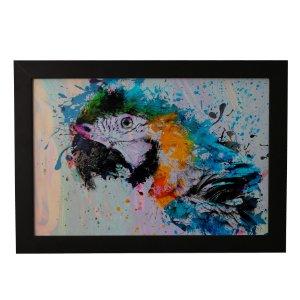 Quadro Decorativo Papagaio Aquarela