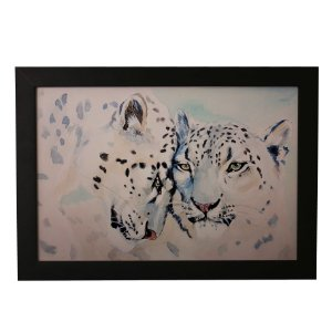 Quadro Decorativo Aquarela Leopardos