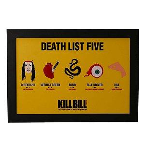 Quadro Decorativo Kill Bill Death List