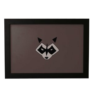 Quadro Decorativo Guaxinim do Rock