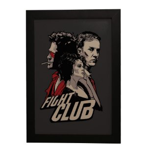 "Quadro Decorativo Fight Club ""Clube da Luta"""
