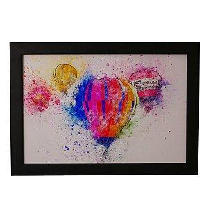 Quadro Decorativo Balões em Aquarela