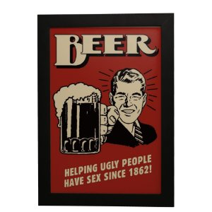 Quadro Decorativo Vintage BEER