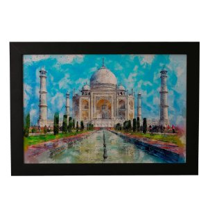 Quadro Decorativo Taj Mahal Aquarela