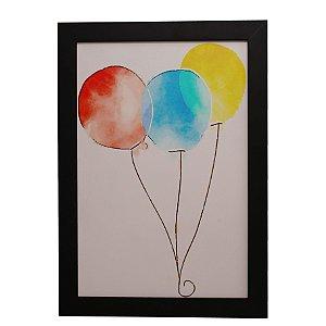 Quadro Decorativo Três Balões