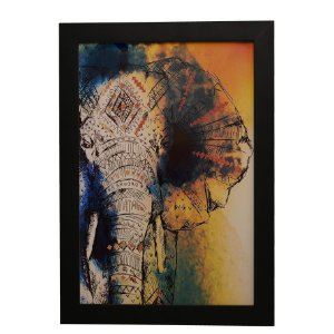 Quadro Decorativo Elefante Indiano