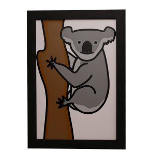 Quadro Decorativo Koala na Árvore