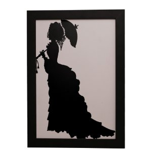 Quadro Decorativo Mulher de Preto