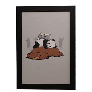 Quadro Decorativo Panda e Koala