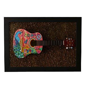 Quadro Decorativo Violão Hippie
