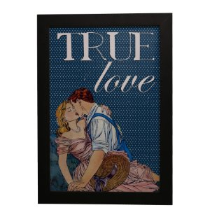 Quadro Decorativo Vintage True Love