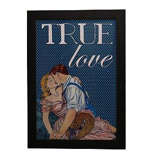 Quadro Decorativo Vintage True Love