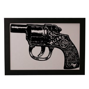 Quadro Decorativo Pistola Wizard