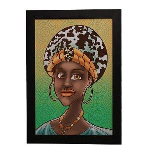 Quadro Decorativo Garota Africana
