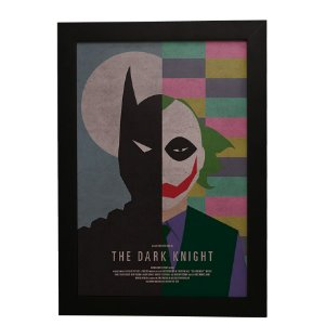 Quadro Decorativo Batman e Coringa