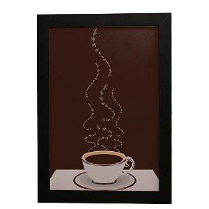 Quadro Decorativo Café Palavras