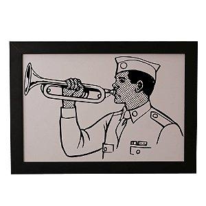 Quadro Decorativo Homem Trompete