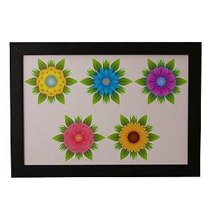 Quadro Decorativo Flores Coloridas
