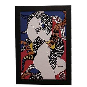 """Quadro Decorativo Abstrato """"Love"""""""