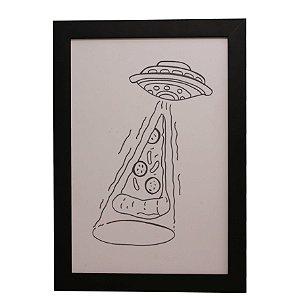 Quadro Decorativo Pizza Abduzida