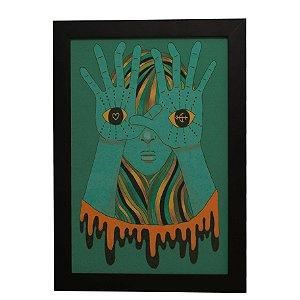 Quadro Decorativo Olhos Nas Mãos