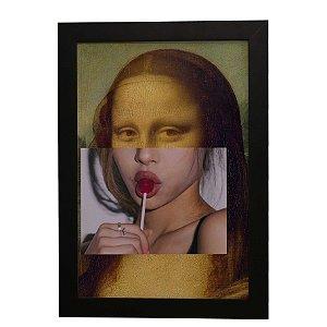 Quadro Decorativo Mona Lisa Pirulito