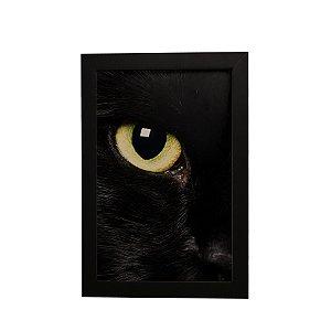 Quadro Decorativo Olhar Gato Preto