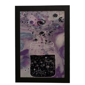 Quadro Decorativo Universo No Pote