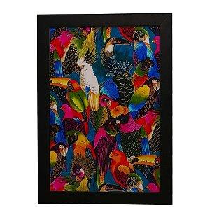 Quadro Decorativo Pássaros Coloridos