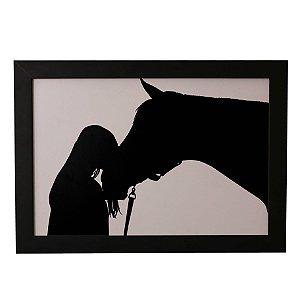 Quadro Decorativo Cavalo e Menina