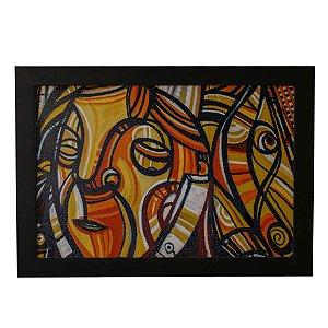 Quadro Decorativo Máscaras Abstratas