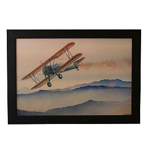 Quadro Decorativo Avião Teco-Teco