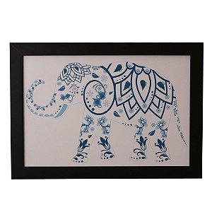 Quadro Decorativo Elefantinho Indiano
