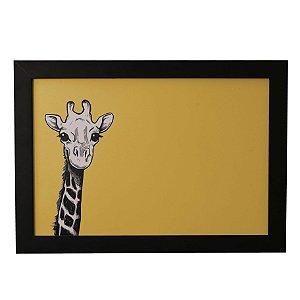 Quadro Decorativo Girafa Sorrindo