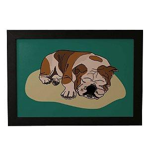 Quadro Decorativo Pug Dormindo