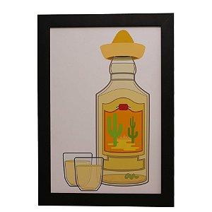 Quadro Decorativo Tequila Com Chapéu