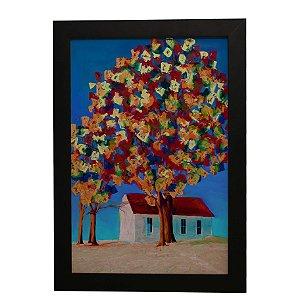 Quadro Decorativo Pintura de Árvore