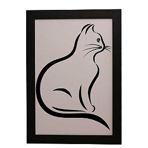 Quadro Decorativo Contorno de Gato