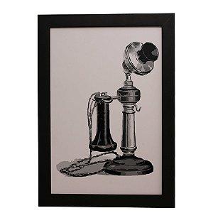 Quadro Decorativo Telefone Vintage