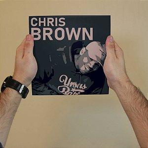 Quadro Decorativo Chris Brown - Coleção Revista Rap