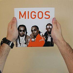Quadro Decorativo Migos - Coleção Revista Rap
