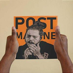 Quadro Decorativo Post Malone - Coleção Revista Rap