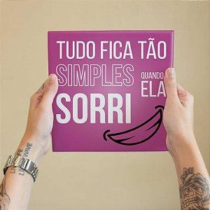 Quadro Decorativo Letra Pineapple - Coleção Revista Rap
