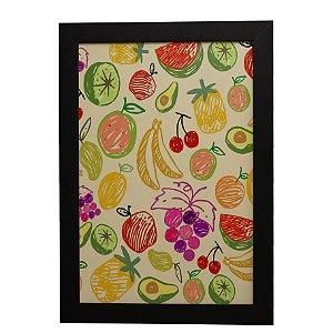 Quadro Decorativo Frutas Desenhadas