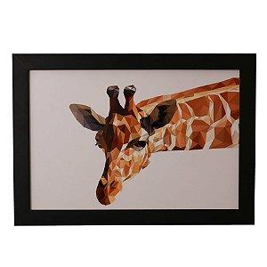Quadro Decorativo Girafa em Aquarela